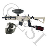 US Army Project Salvo Paintball Gun - Black and Tan Basic HPA Kit