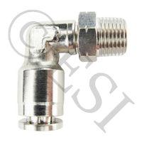 Macro Line Fitting - 90 Swivel - Nickel Plated Brass