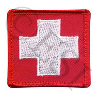 White Cross w Red Morale Patch
