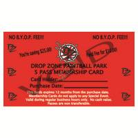 5 Pass Membership Card