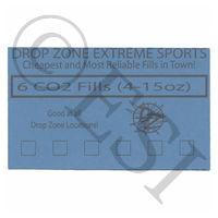 CO2 Fill Card - 6 Fills - 4-15oz