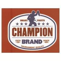 'Champion Brand' Sticker