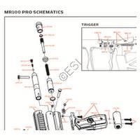 Kingman Spyder MR100 PRO 2012 Gun Diagram