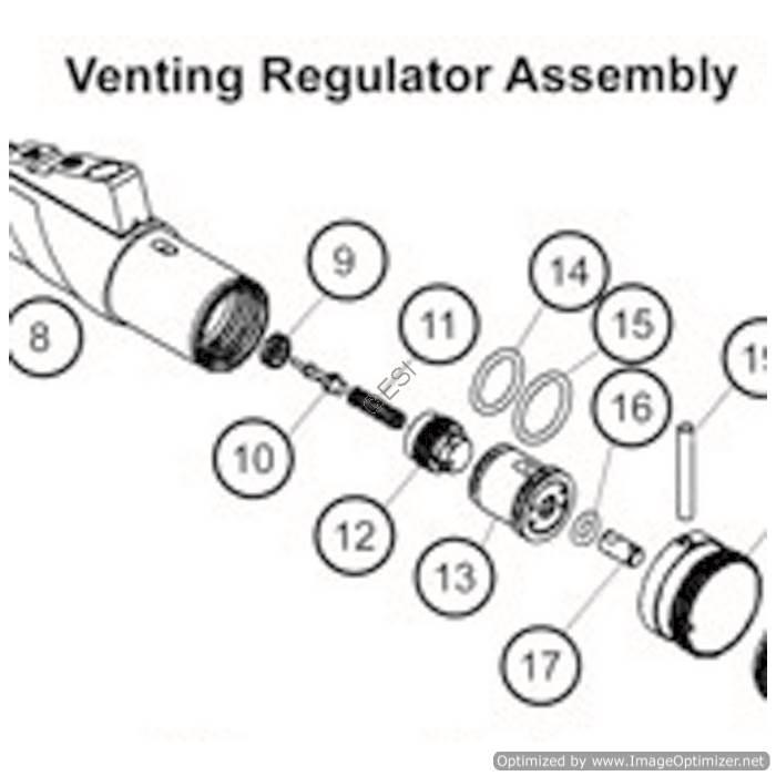 tippmann crossover xvr venting regulator asa assembly diagram