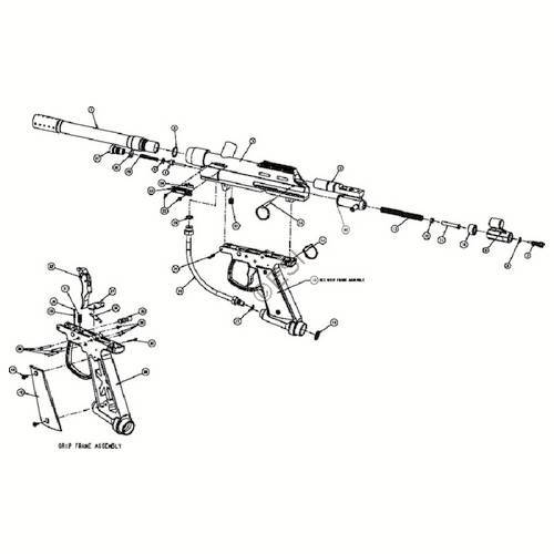 brass eagle eradicator gun diagram rh dropzonepaintball com piranha paintball gun parts diagram VL Orion Paintball Gun Diagram