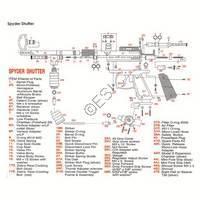 Kingman Spyder Shutter Gun Diagram