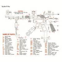 Kingman Spyder TL Plus Gun Diagram