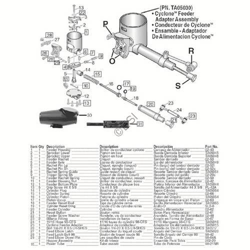 tippmann 98 custom cyclone feed hopper diagram