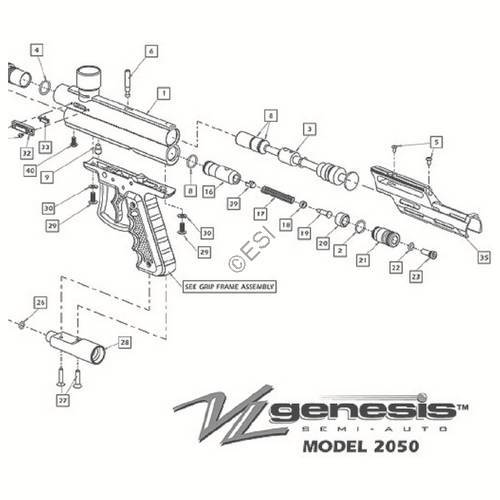 viewloader genesis i gun diagram