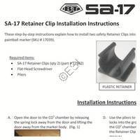 Empire BT SA-17 Gun Retainer Clip Installation Manual