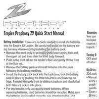 Empire Prophecy Z2 Hopper Quick Start Manual