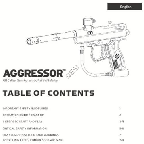kingman spyder aggressor 2012 gun manual
