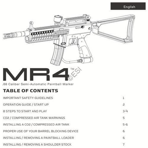 kingman spyder mr4 gun manual