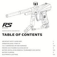 Kingman Spyder RS Gun Manual