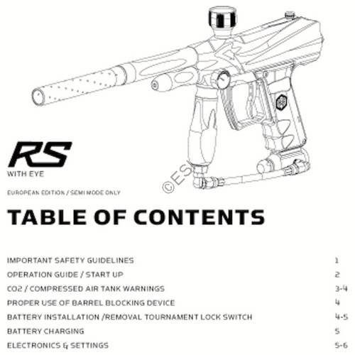 kingman spyder rs gun manual