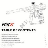 Kingman Spyder RSX Gun Manual