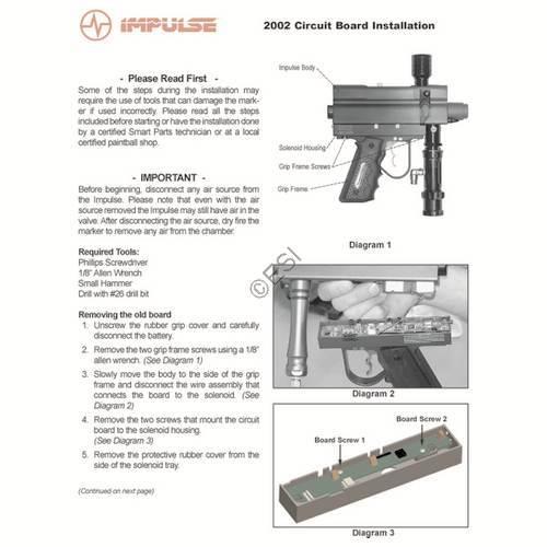 Smart Parts Impulse Gun Circuit Board Manual